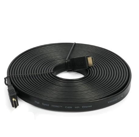 20M High Speed 1080p HDMI HD Flat Cable - Black