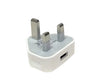 TiTO USB Travel Wall Charger Adapter UK 3 pin Plug For iphone 7 4S 5 5S 6 plus Samsung S7 S6 Edge HTC - White
