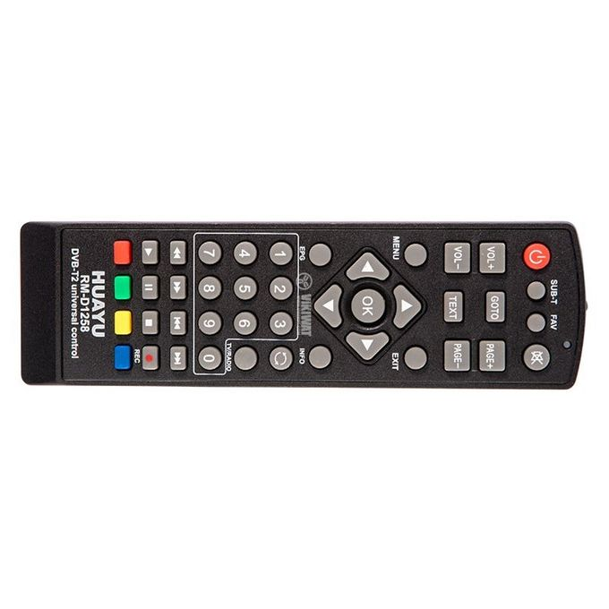 Universal Remote Controller For Digital Receivers - Black