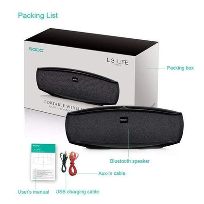 SODO L3 Life Wireless Portable Touch Control Bluetooth Speaker - Color May Vary