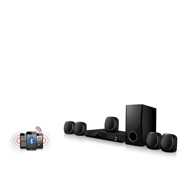 LG LHD427 Ultra Bass Bluetooth Multi Region Free 5.1-Channel DVD Home Theater Speaker System + Free 3M HDMI Cable - Black