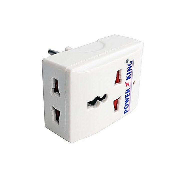 Power King Universal Multi-Plug Adaptor - White