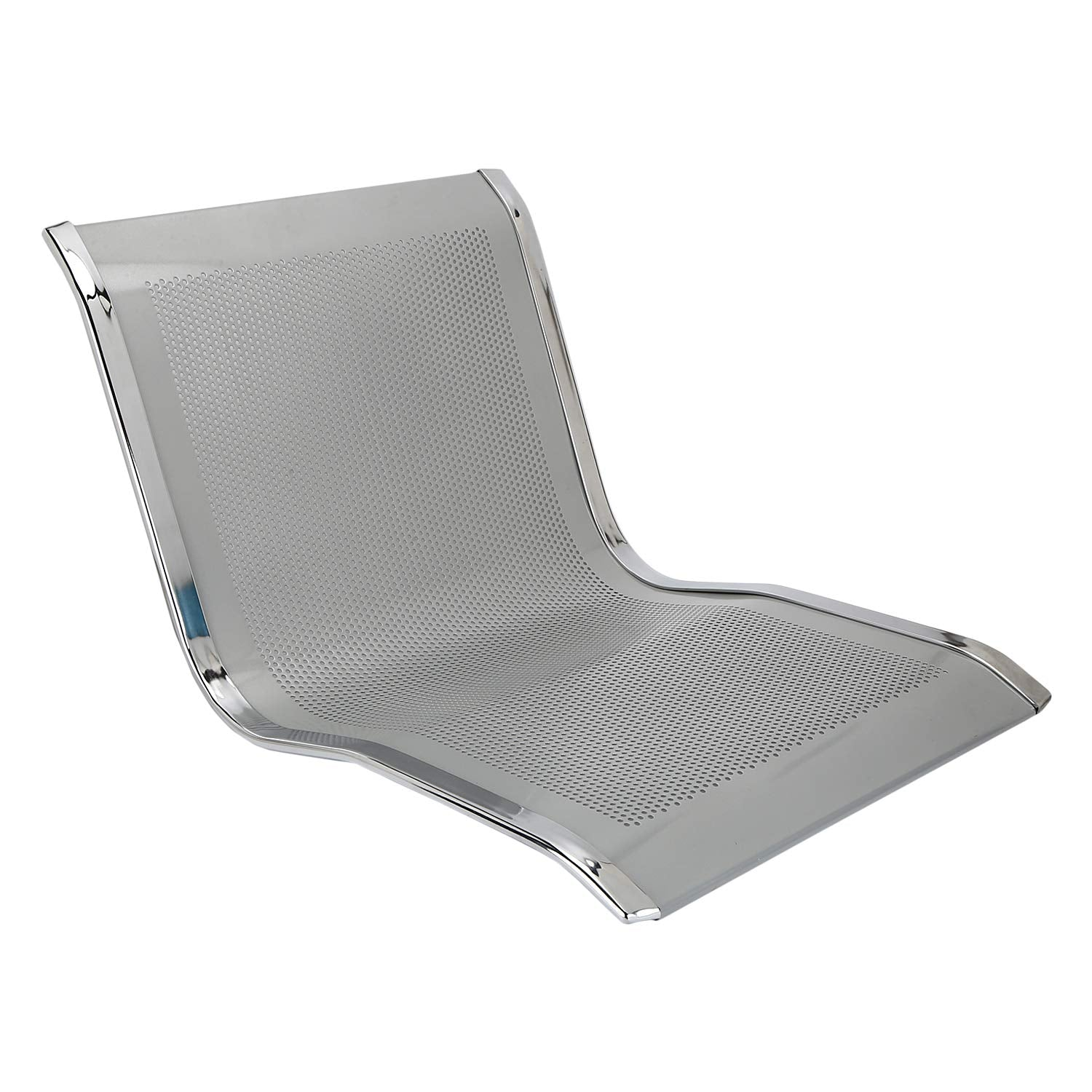 Three Seater Aluminium Alloy Airport Waiting and Reception Chair - Silver