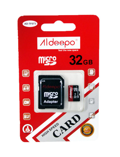 Aldeepo 32GB Class10 High Speed Memory Card  - Black