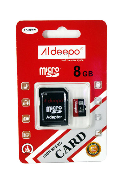 Aldeepo 8GB Class10 High Speed Memory Card  - Black
