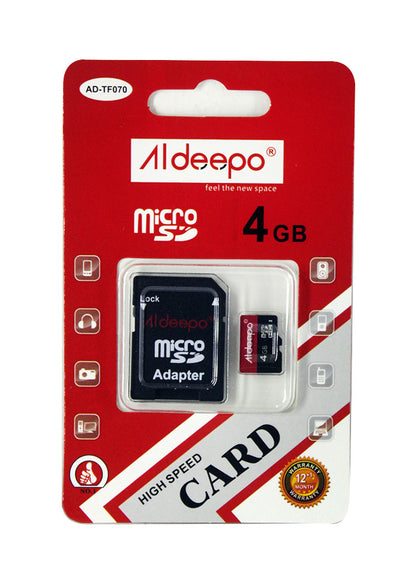 Aldeepo 4GB Class10 High Speed Memory Card  - Black