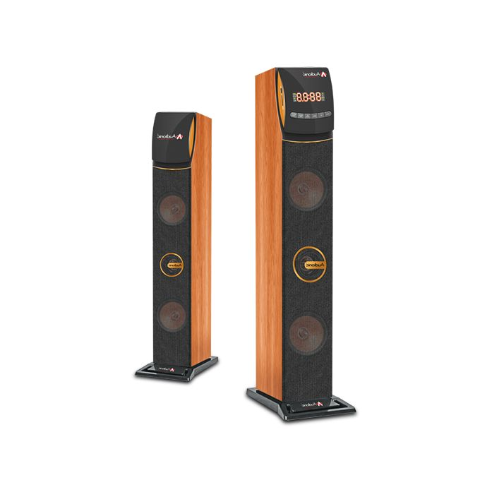 Audionic Reborn RB-10 Exortic Wooden Bluetooth, USB/SD, FM Radion, NFC Supported Elegant 2.0 System - Wooden