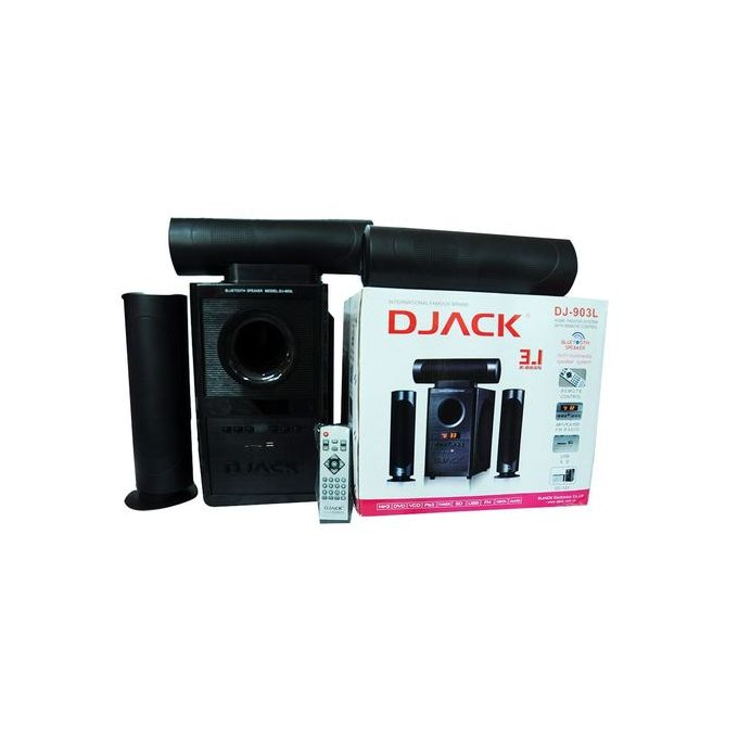 DJACK DJ-903L - 3.1Channel Bluetooth Enabled Sub Woofer - Black