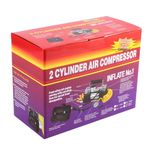 Portable 12V Air Compressor & Car Tyre Stainless Steel Double Cylinder Inflator