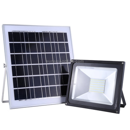50W LED Solar Powered Outdoor Flood Light With Dusk to Dawn Sensor & Remote Controlled - Black