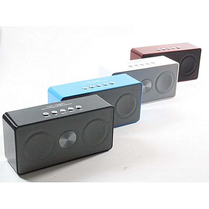 Wster WS768BT Wireless Bluetooth Portable Speaker With FM,USB & SD Slots - Black