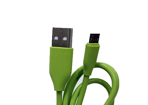 Micro USB to USB Quick Charge & Data Sync Cable - Green