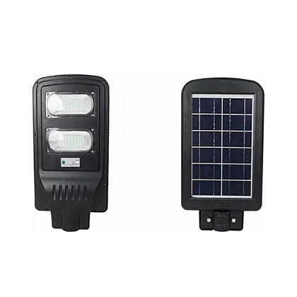 60W LED Solar Street Light IP65 Waterproof Remote Control PIR Motion Sensor Street Lamp - Black