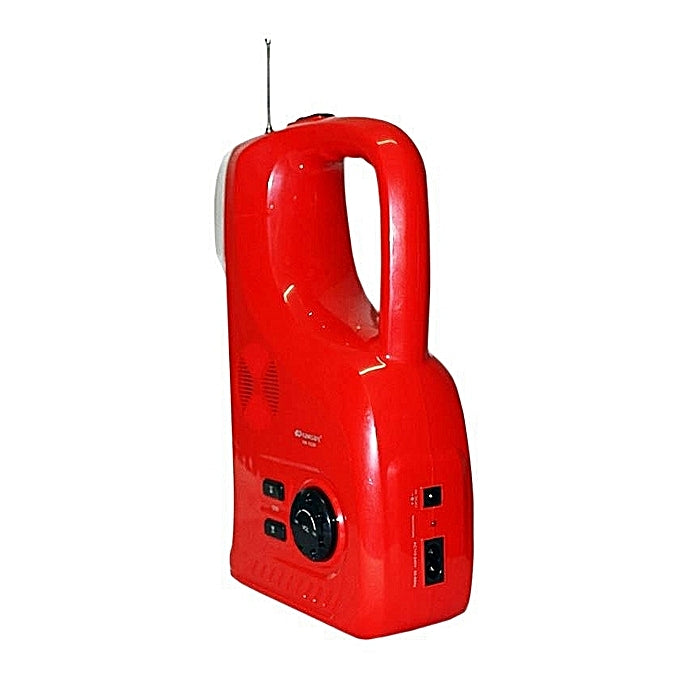 Kamisafe KM-7628F -Multi-functional Emergency Lamp With FM Radio - Red