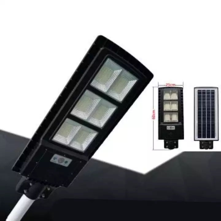 80W LED Solar Motion Sensor Day & Night Auto Street Light - Black