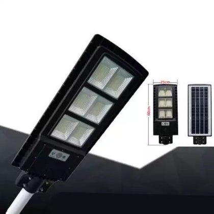 60W LED Solar Motion Sensor Street Light - Black