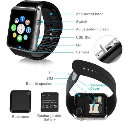 Modio A1 Touch Screen Series Bluetooth Smart Watch - Black