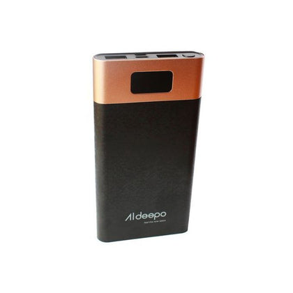 Aldeepo 10000mAh Power Bank With Digital Display - Black