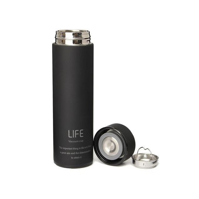 Always 450ml Always Life Slim Vacuum Bottle - Black