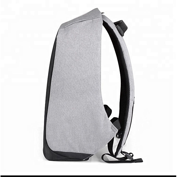 Anti-theft Laptop Bag with USB Charger, Waterproof Large Capacity Bags – Grey, Black