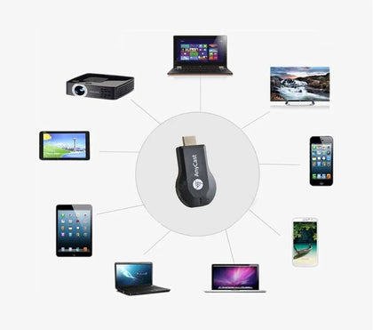 AnyCast M2 Plus Airplay 1080P Wireless WiFi Display TV Dongle Receiver HDMI Android Miracast For Phone PC Chromecast - Black