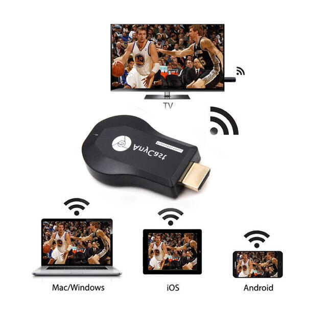 Anycast M9 Plus HDMI TV DLNA 1080P Wireless Display Dongle Receiver Airplay Miracast - Black