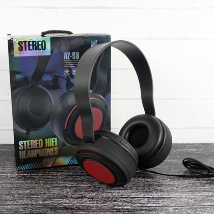 AZ-99 Extra Bass HiFi Wired Headphone - Black