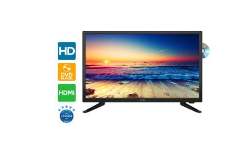 "Barefoot Power AC&DC  22"" LED TV With Inbuilt DVD Player - Black"