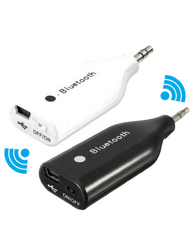 Car Bluetooth Audio Music AUX Streaming 3.5mm Adapter - Black