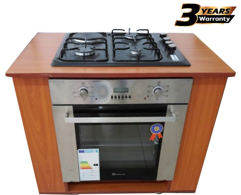 BlueFlame E431C-B Stainless Steel Cooker Inbuilt Black Design - Inox