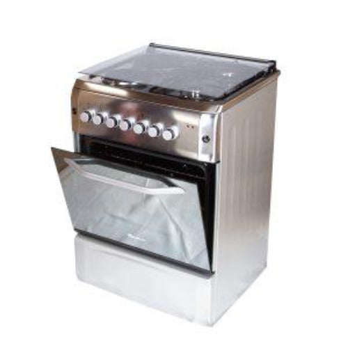 BlueFlame Diamond D6022ERF Cooker 60x60cm 2 Gas Burners and 2 Electric Plates - Inox