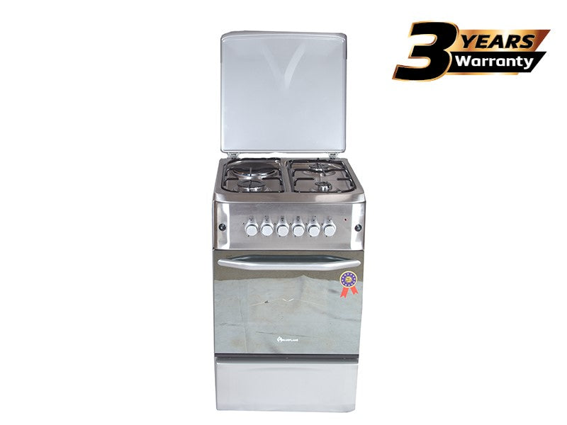 BlueFlame Cooker S5031ER-MIR 50x55cm 3 Gas Burners+1 Electric Plate and Electric oven