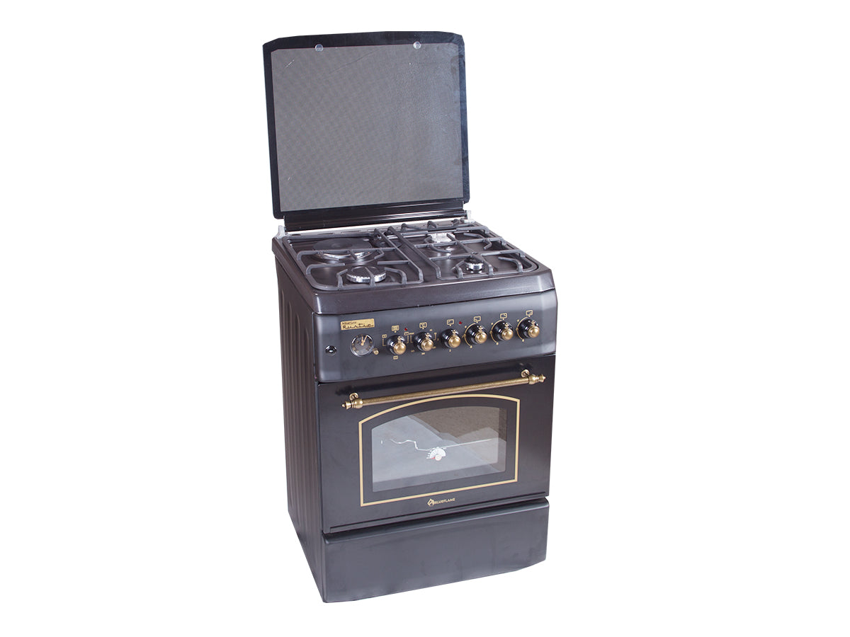 Blueflame Rustic Cooker T6031ERF-B 3 Gas Burners and 1 Hot plate 60 X 60 cm - Black