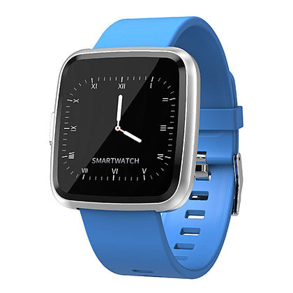 COLMI CY7 Unisex Smart Watch Full Screen Touch IP67 Waterproof Bluetooth Sports fitness tracker Men Smartwatch For IOS Android Phone - Blue