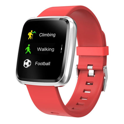 COLMI CY7 Unisex Smart Watch Full Screen Touch IP67 Waterproof Bluetooth Sports fitness tracker Men Smartwatch For IOS Android Phone - Red