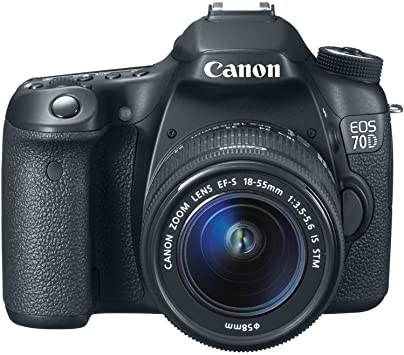 Canon EOS 70D Digital SLR 20.2 MP Digital SLR Camera With 18-135mm STM Lens - Black