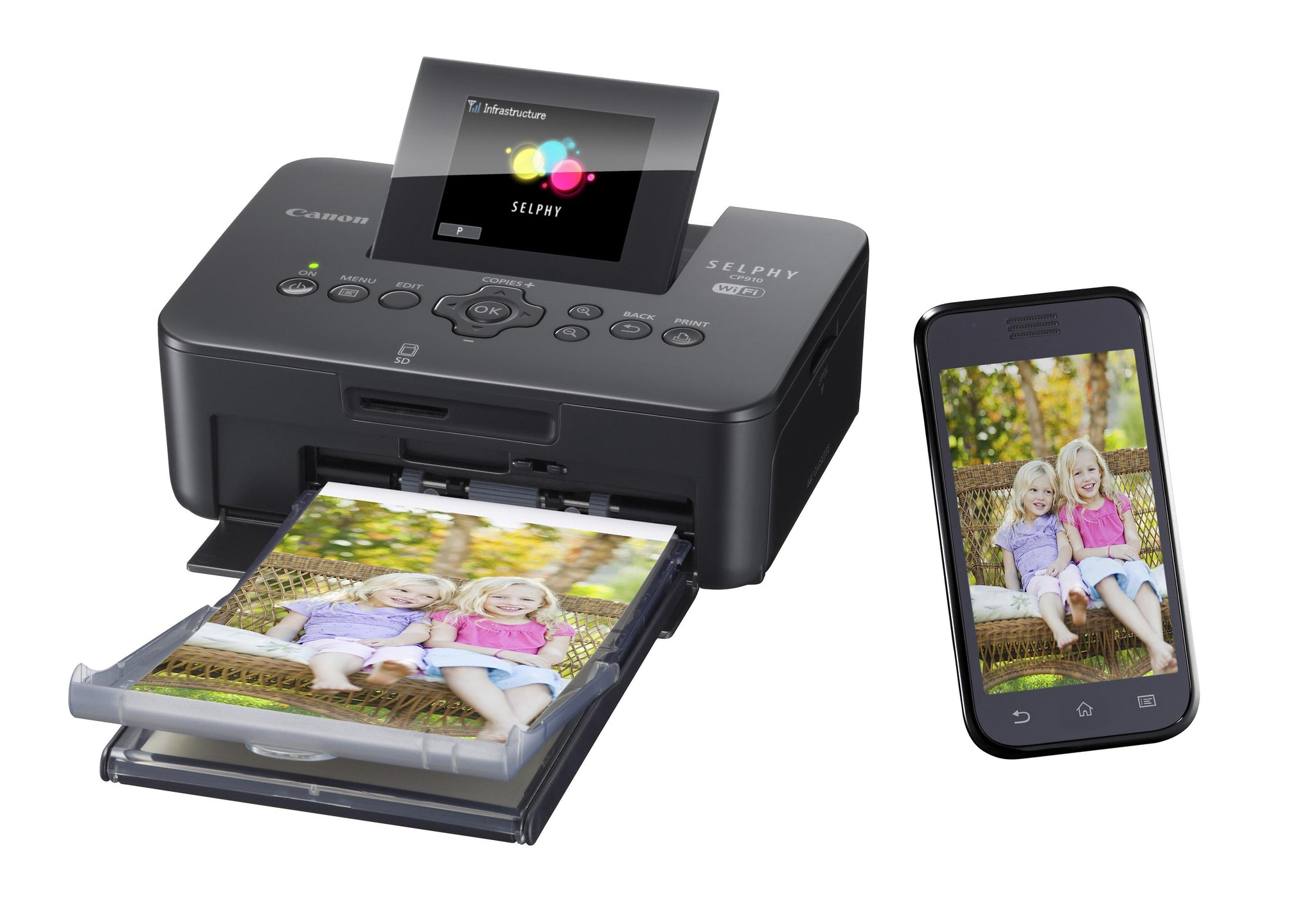 Canon Selphy CP910 Wireless Compact Photo Printer - Black