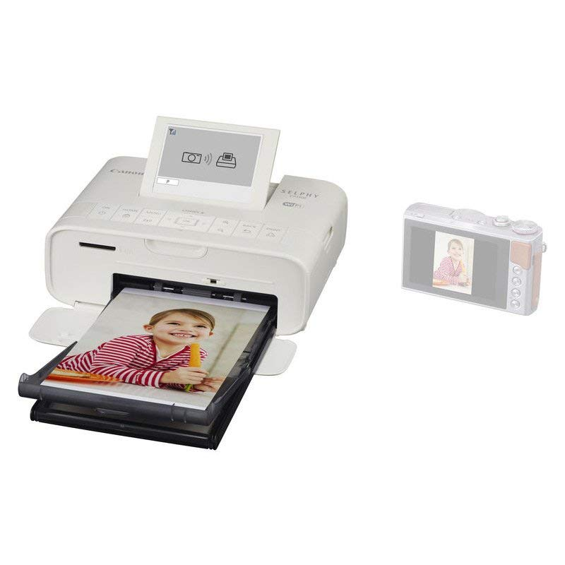 Canon Selphy CP1300 Wireless Compact Photo Printer With AirPrint and Mopria Device Printing - White