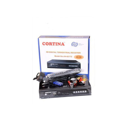 Cortina DVB/T2 1080p Full HD Free to Air Digital Decorder - Black