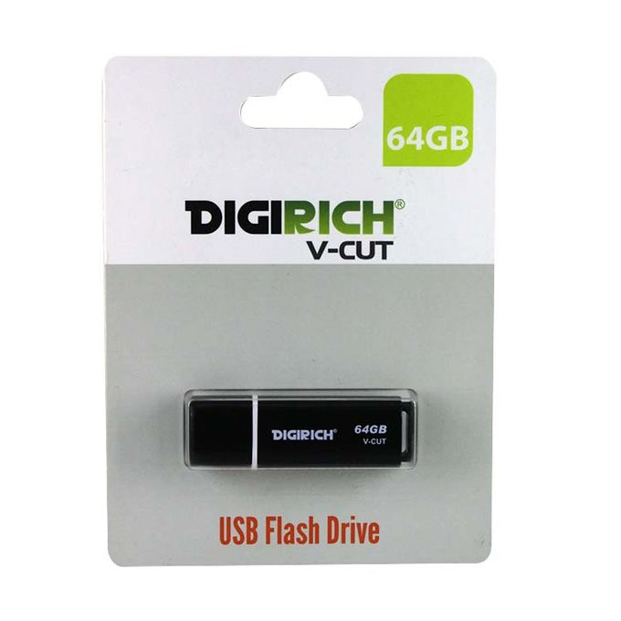 Digirich 64GB 2.0 USB Flash Drive - Black