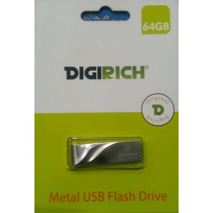 Digirich 64GB 2.0 Mettalic USB Flash Drive - Black