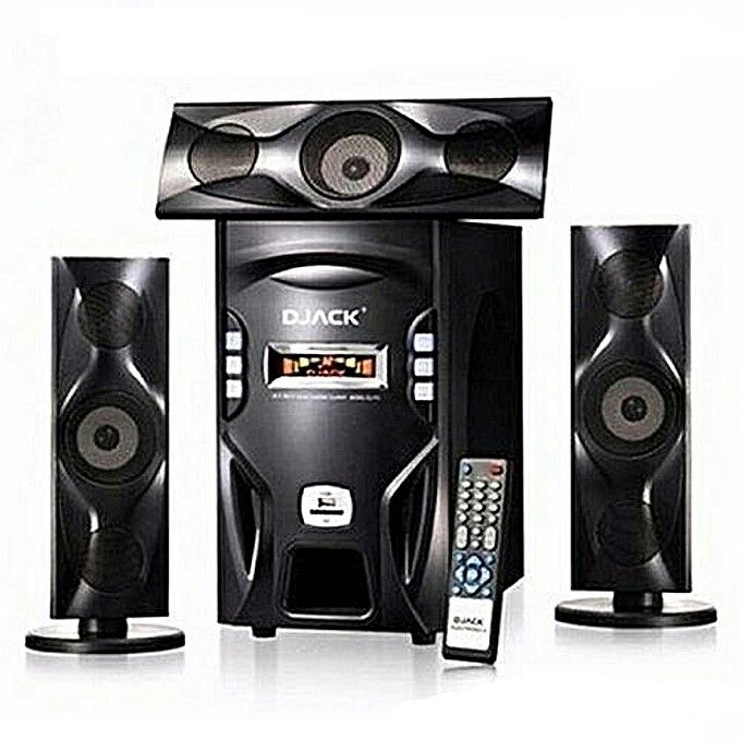 Super-Bass Bluetooth Home Theatre Multimedia Speaker System + Free 8GB Flash - Black