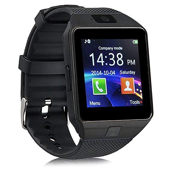 Dz09 Bluetooth Camera Smart Watch for Iphone and Android Smartphones - Black