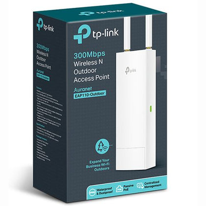 TP-Link EAP110 IP65 300Mbps Outdoor Wireless Access Point - White