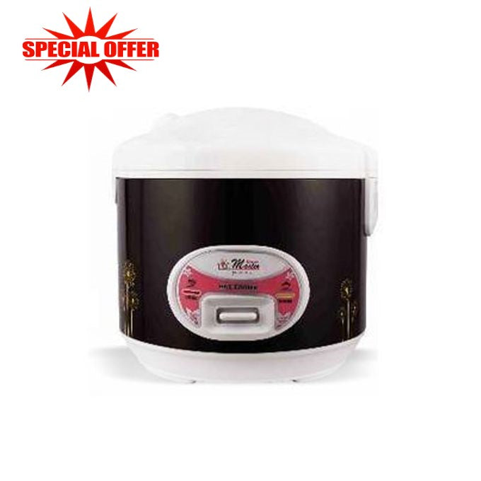 Electro Masters Premium Rice Cooker, 1.8Ltrs - Black,White