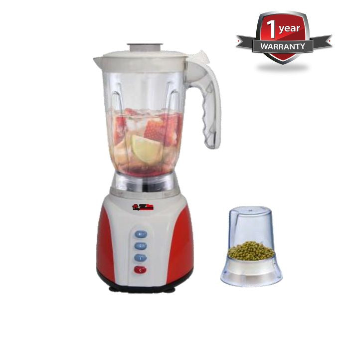 Electro Masters EM-BL-1359 Superficient Electric Blender With Grinder Mill - White,Red