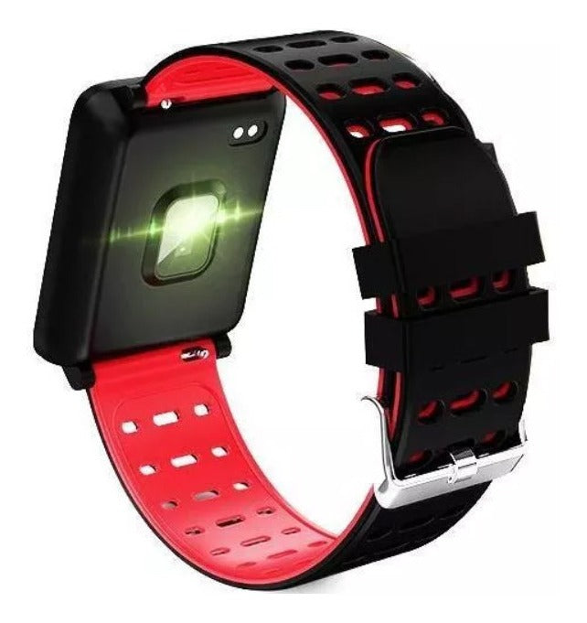 F3 Waterproof Heart Rate Monitor Fitness Smart Watch Bracelet - Red