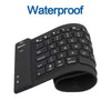 Flexible USB and PS/2 Silicone Gel Full-Sized Keyboard - Black