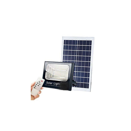 60W LED Auto Switch On and Off During Night and Day Respectively Solar Flood Light - Black