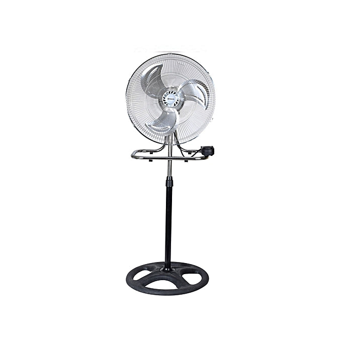 2 in 1 Table & Stand Fan - Black, Silver